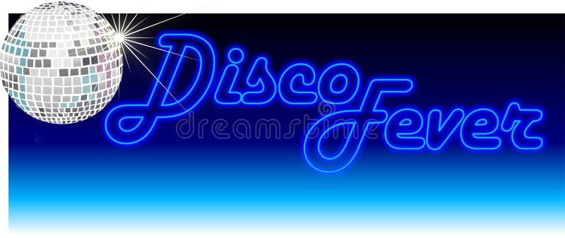 blå retro diskofeber royaltyfri illustrationer