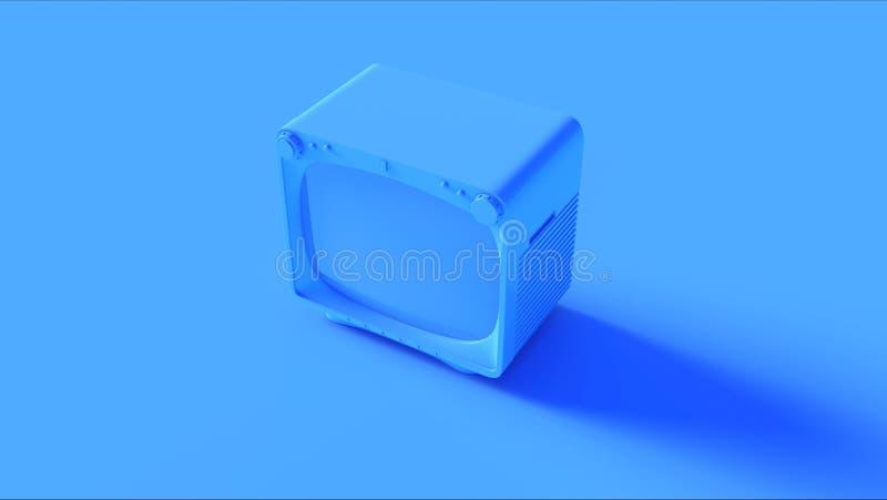 Blå retro tappningTVuppsättning royaltyfri illustrationer