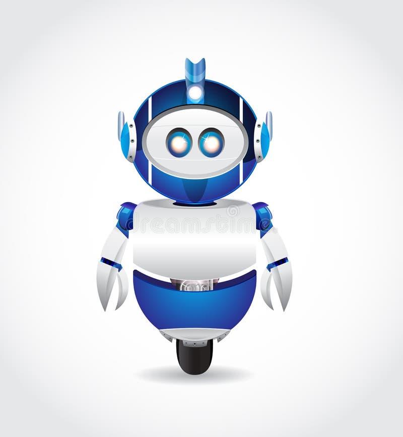 Blå robot stock illustrationer