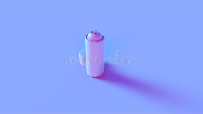 Blå rosa sprej kan royaltyfria bilder