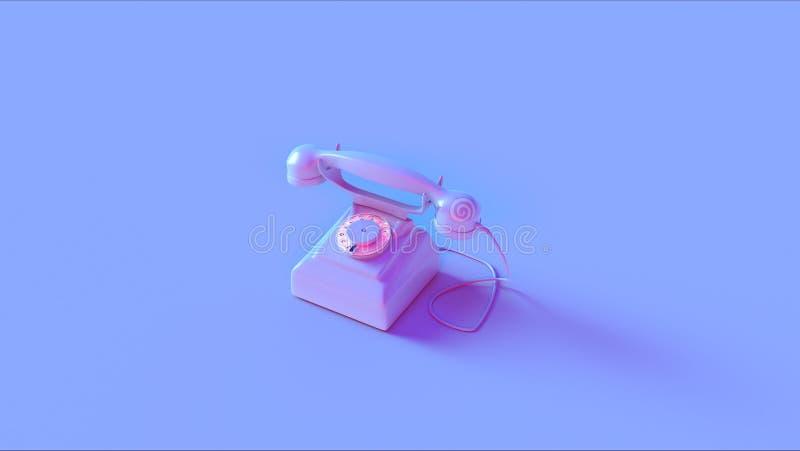 Blå rosa telefon vektor illustrationer