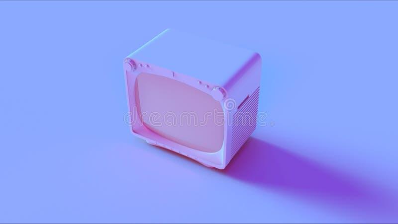 Blå rosa TV royaltyfri fotografi