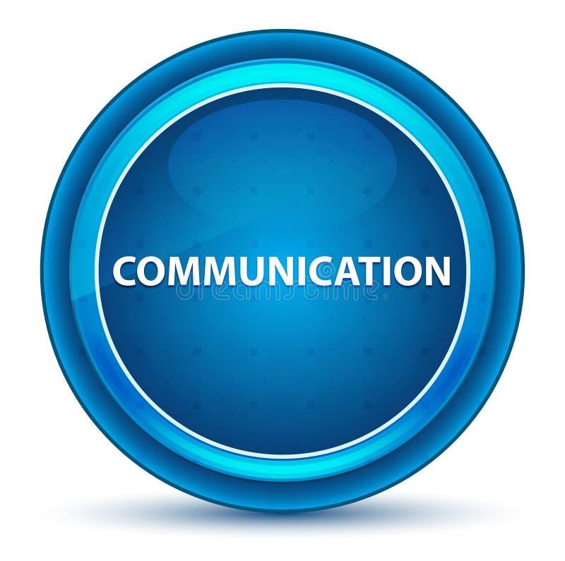 Blå rund knapp för kommunikationsögonglob vektor illustrationer