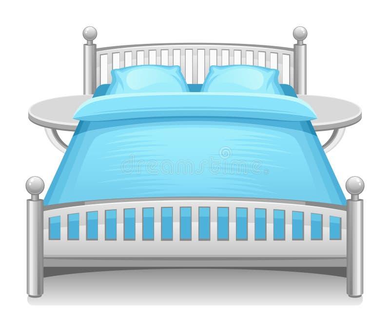 Blå säng stock illustrationer