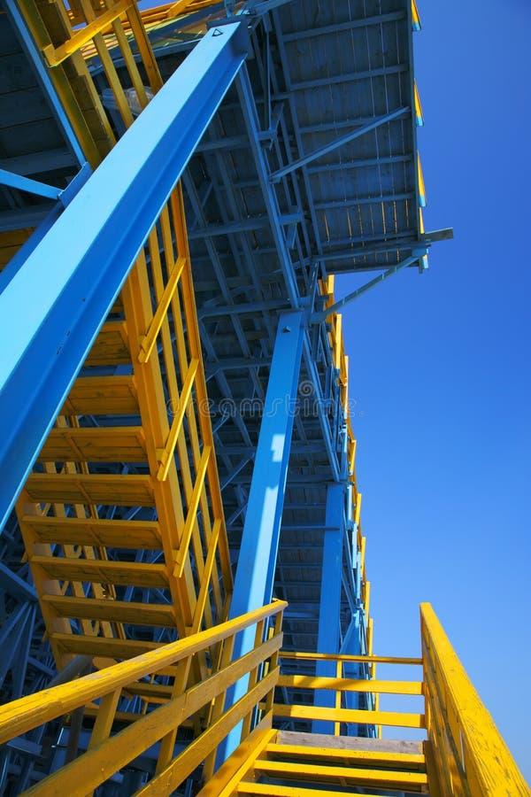 blå scaffold royaltyfri foto