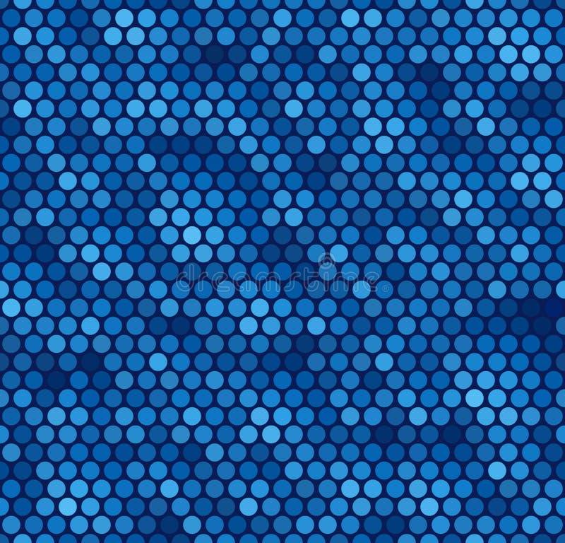 blå seamless prickmodell royaltyfri illustrationer