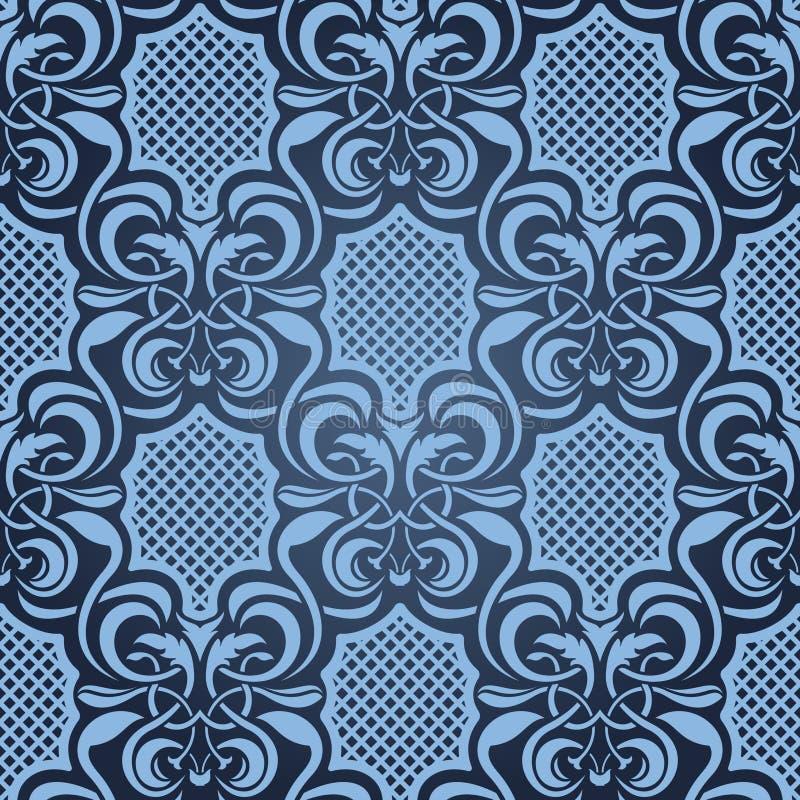 blå seamless wallpaper vektor illustrationer