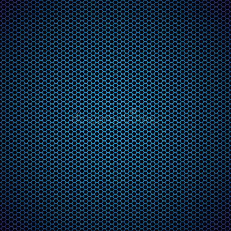 blå sexhörningsmetall för bakgrund vektor illustrationer