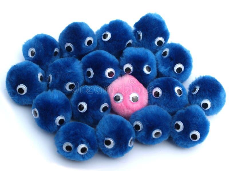 blå sexuell begreppsjämställdhetpink arkivfoton