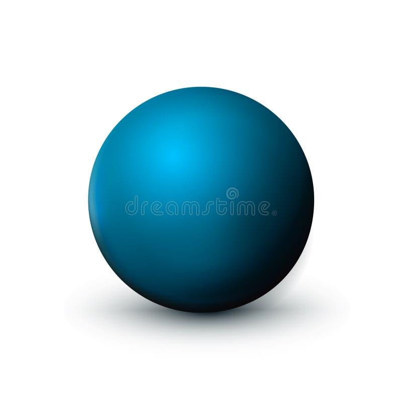 Blå sfär, boll Förlöjliga upp av ren runda det realistiska objektet, orbsymbol Rund form för designgarnering, geometriskt enkelt, vektor illustrationer
