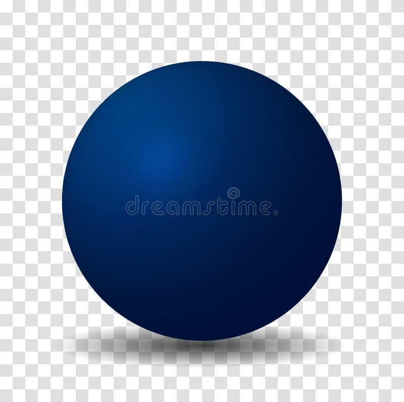 Blå sfärboll royaltyfri illustrationer
