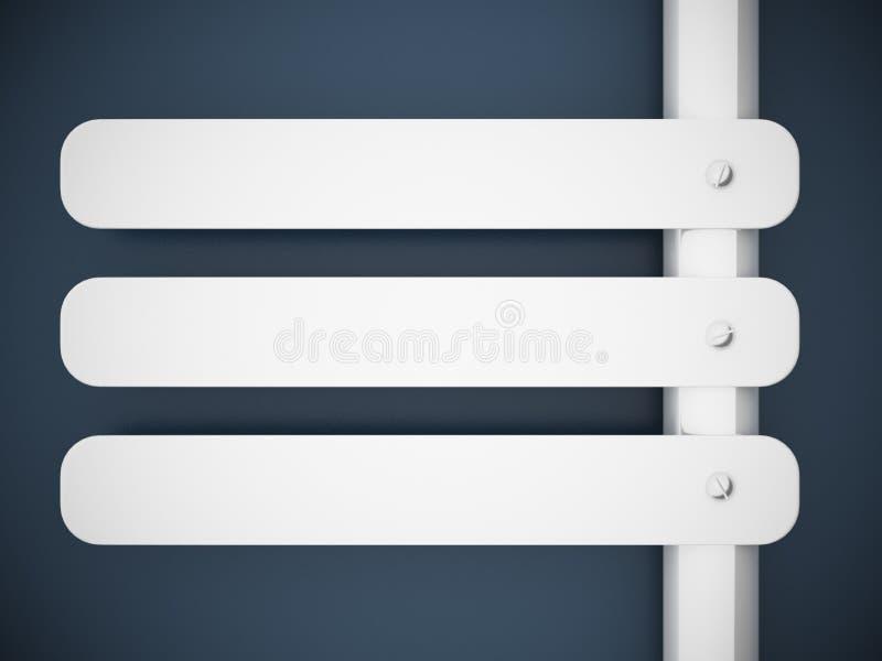 blå signboardvägg för framförande 3d stock illustrationer