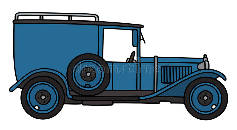 Blå skåpbil för tappning stock illustrationer