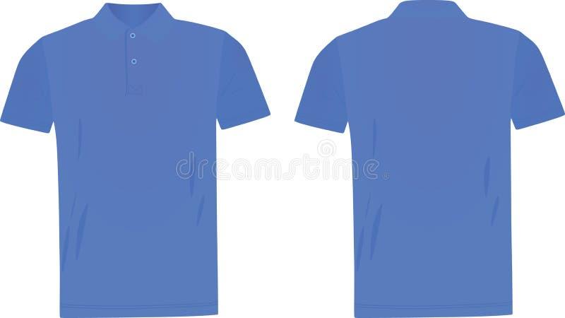 Blå skjorta för polo t vektor illustrationer