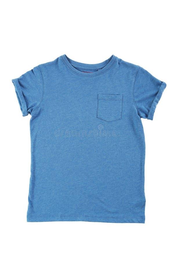 blå skjorta t arkivbild