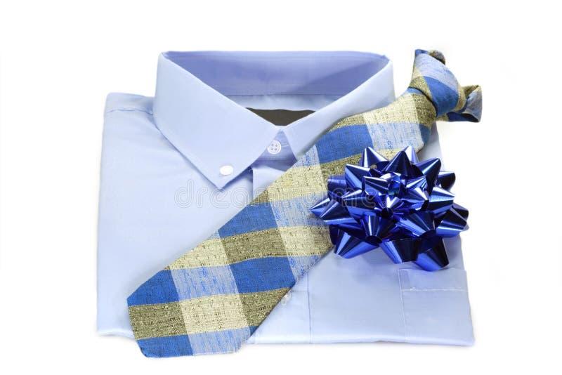 blå skjortatie arkivfoton