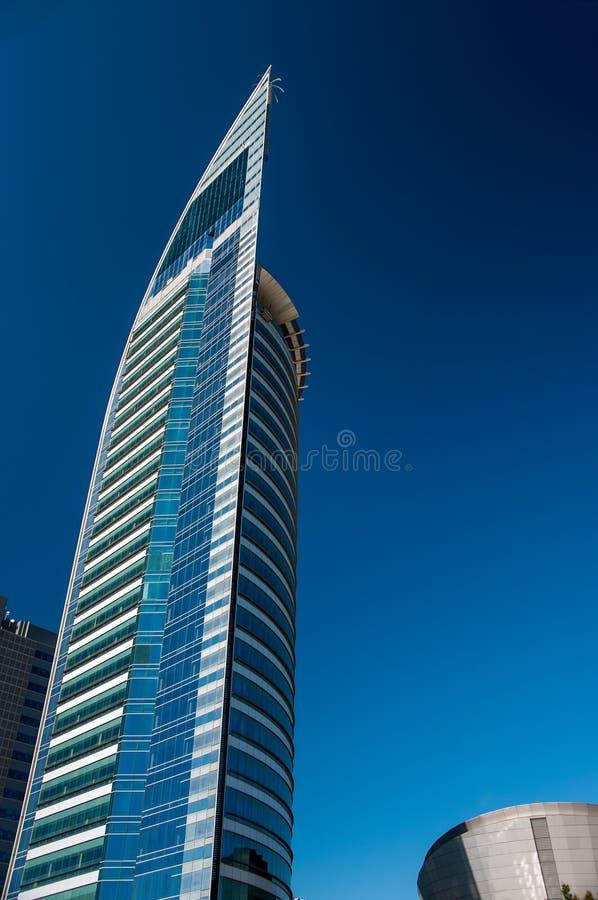 Blå skyskrapa i Uruguay fotografering för bildbyråer