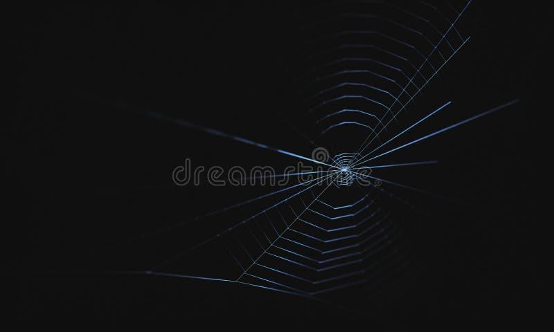 blå slapp spindeltonrengöringsduk royaltyfri illustrationer