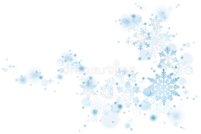 Blå snöflingavirvel royaltyfri illustrationer