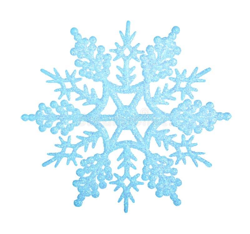 blå snowflake royaltyfri fotografi
