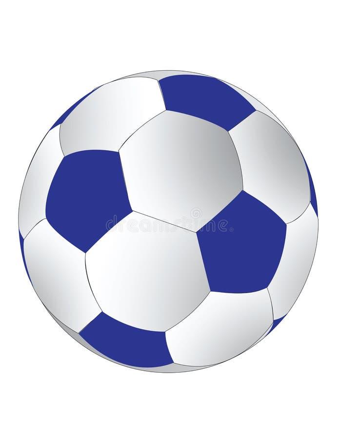 blå soccerballwhite stock illustrationer