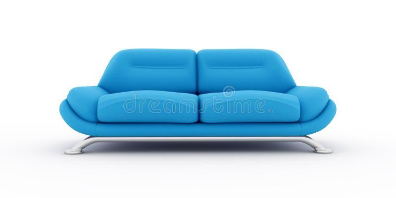 blå sofawhite för bakgrund stock illustrationer