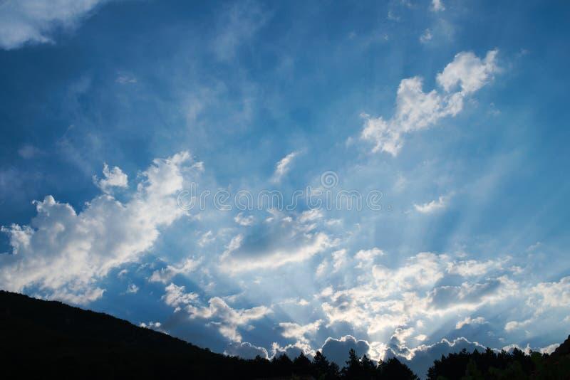 blå solnedgång arkivbild