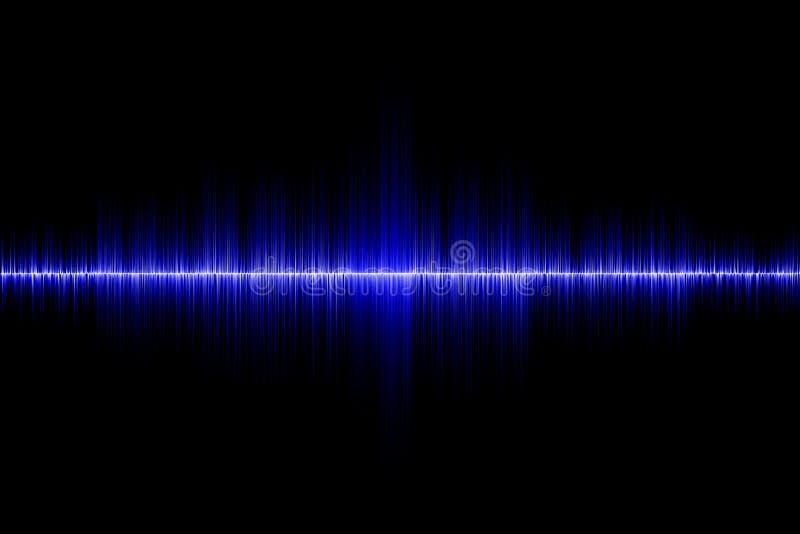 blå sound wave för bakgrund arkivfoto
