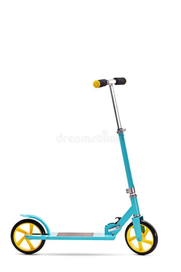 blå sparkcykel royaltyfria bilder
