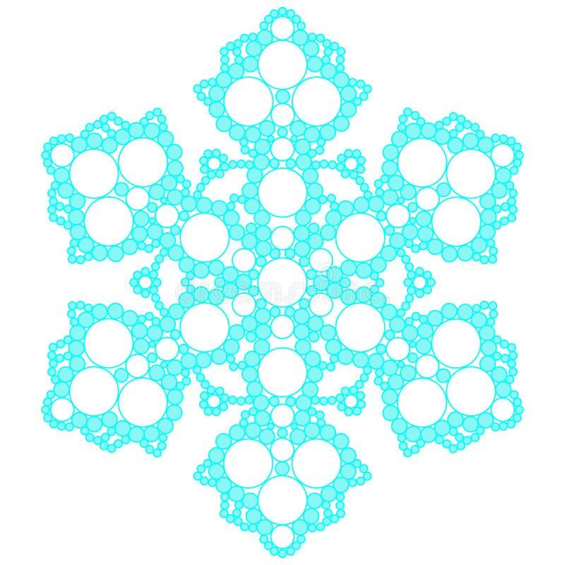 Blå spets- snöflinga också vektor för coreldrawillustration fotografering för bildbyråer