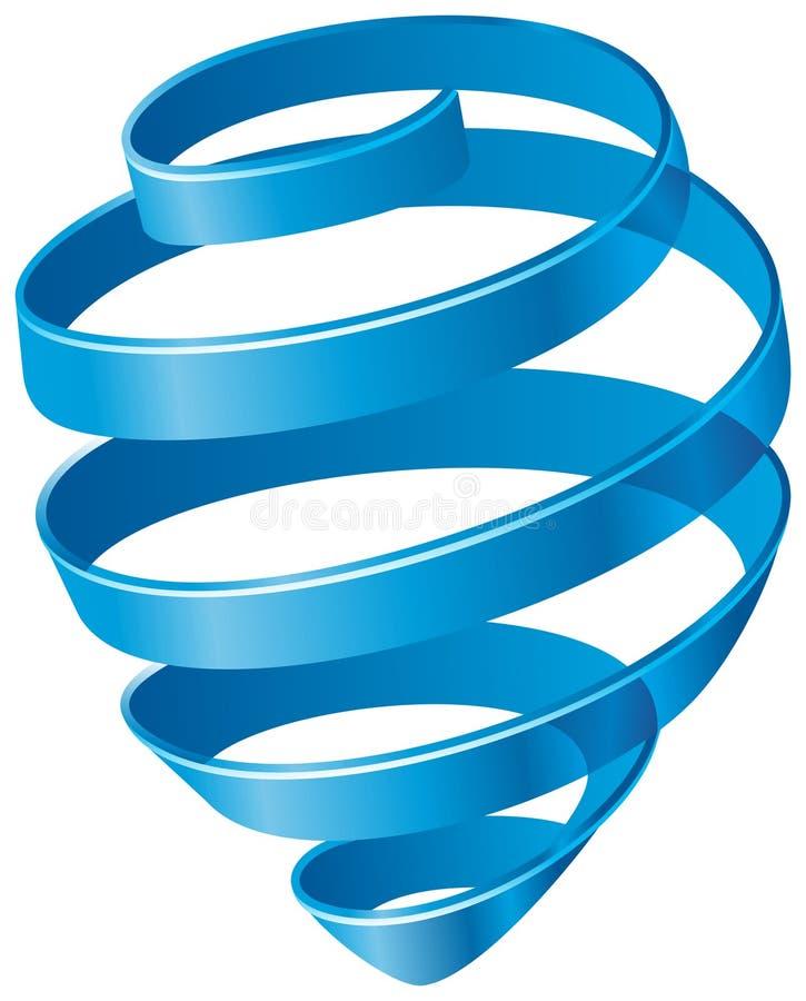 Blå Spiral Arkivfoton