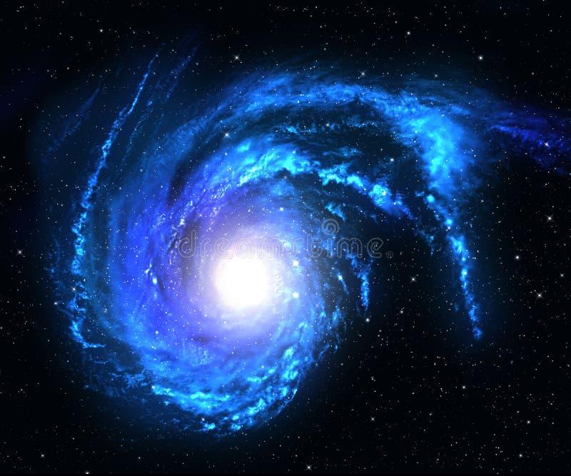 Blå spiralgalax. royaltyfri foto