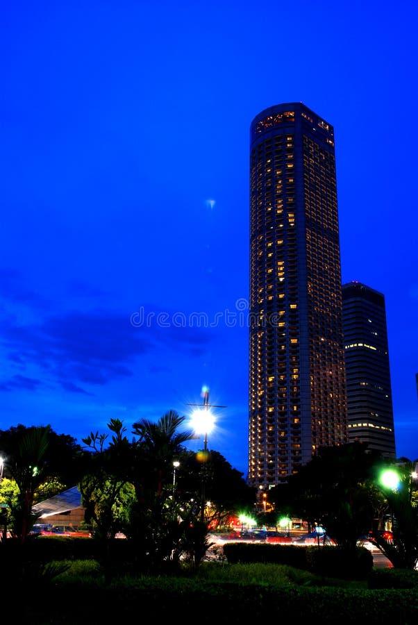 blå stad singapore royaltyfri foto