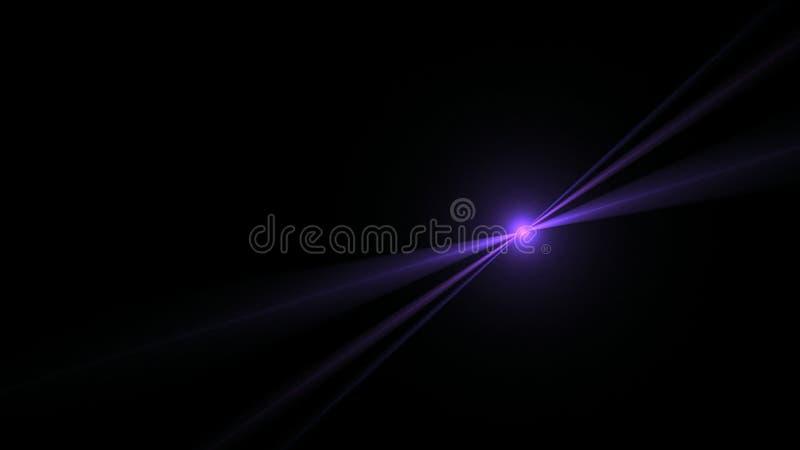 Blå stjärna som skiner på svart stock illustrationer