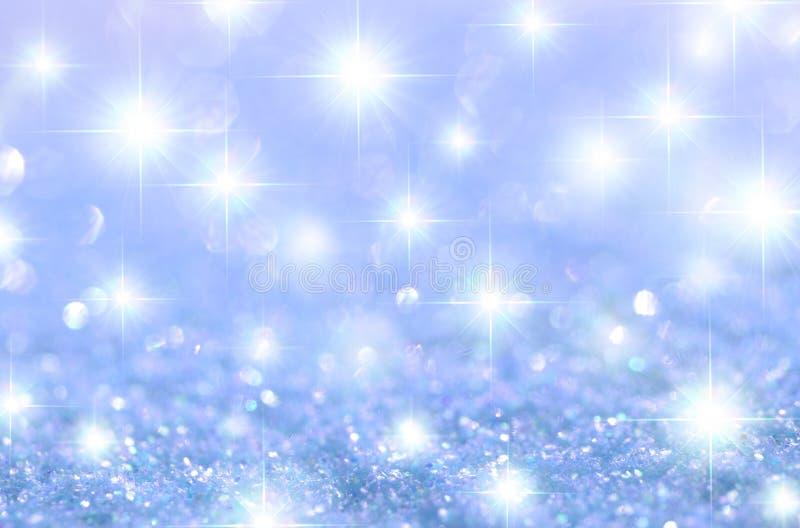 Blå stjärnklar gnistrande arkivfoto