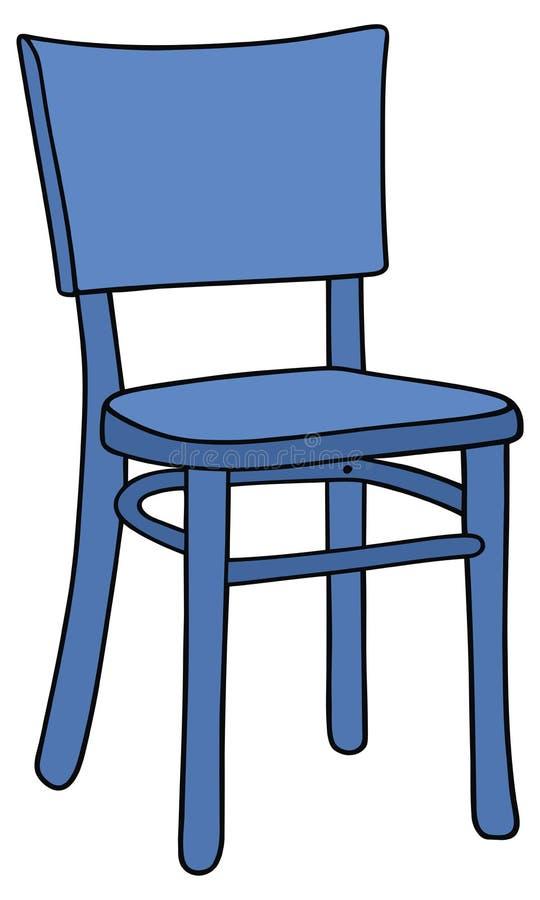 Blå stol stock illustrationer