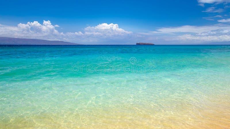 Blå strand Maui royaltyfria bilder