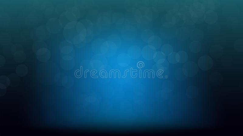 Blå suddighet verkställer bakgrund med blått ljus på mitten för produ vektor illustrationer