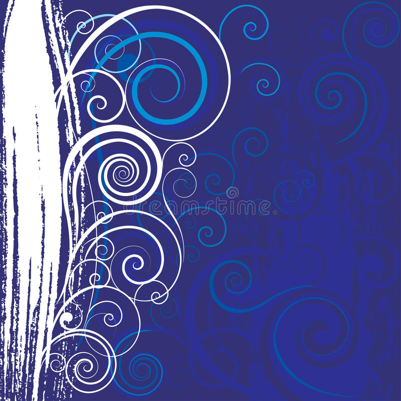 blå swirl för bakgrund vektor illustrationer