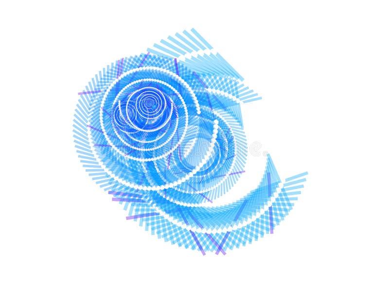 blå swirlwhite för abstrakt bakgrund vektor illustrationer