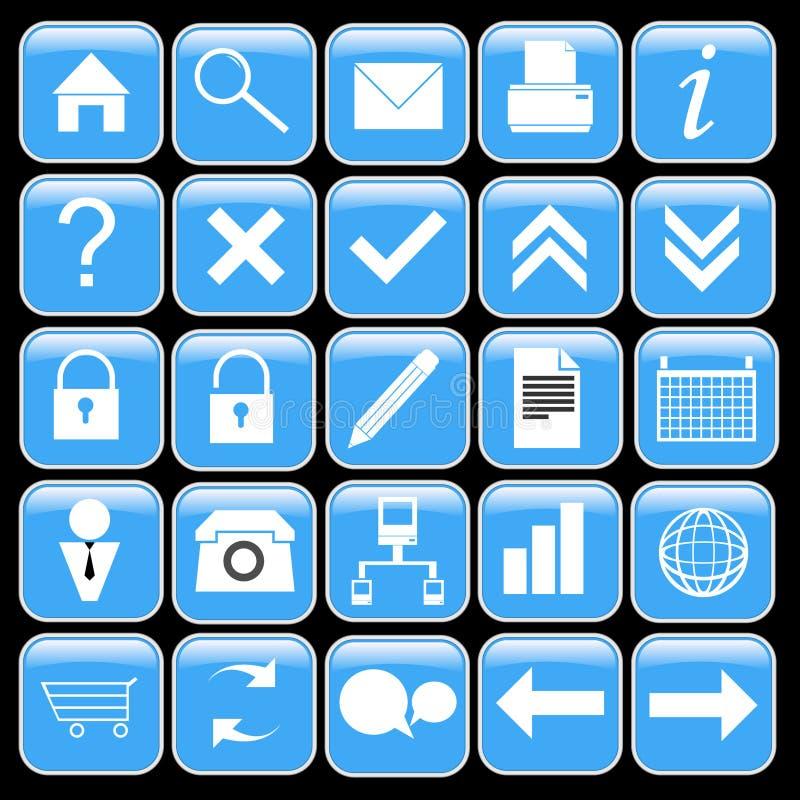 blå symbolsset arkivbild