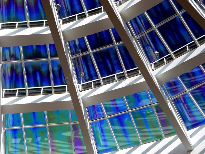 blå takfönster royaltyfria bilder