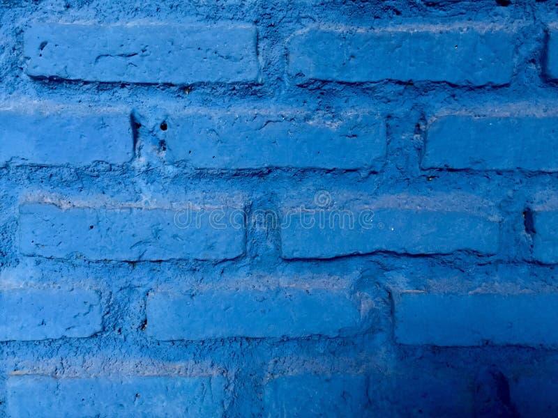 blå tegelstenvägg Bakgrund royaltyfri bild