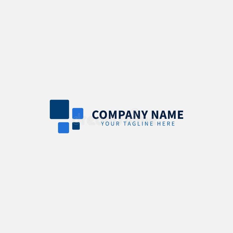 Blå teknologi DET Logo Editable för DET affär eller service stock illustrationer