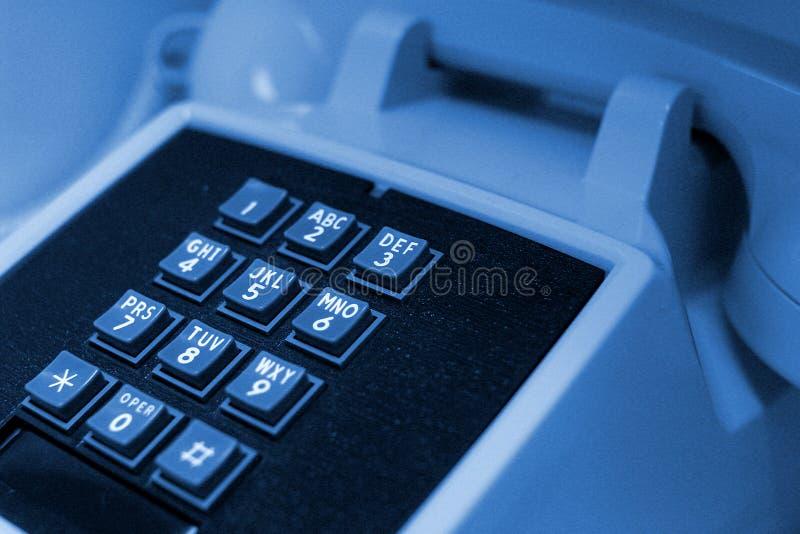 Download Blå telefon fotografering för bildbyråer. Bild av lyssna - 43809