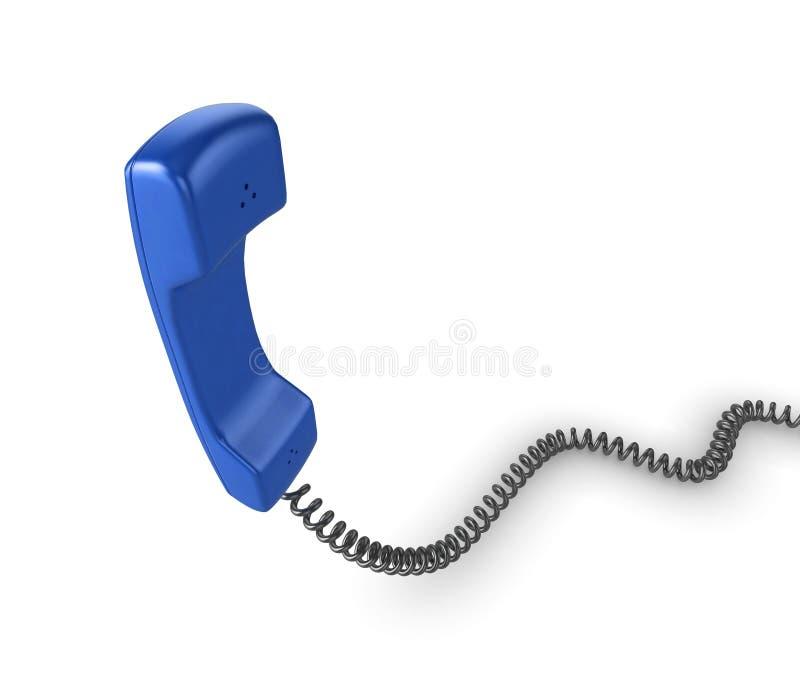 blå telefonlurtelefon stock illustrationer