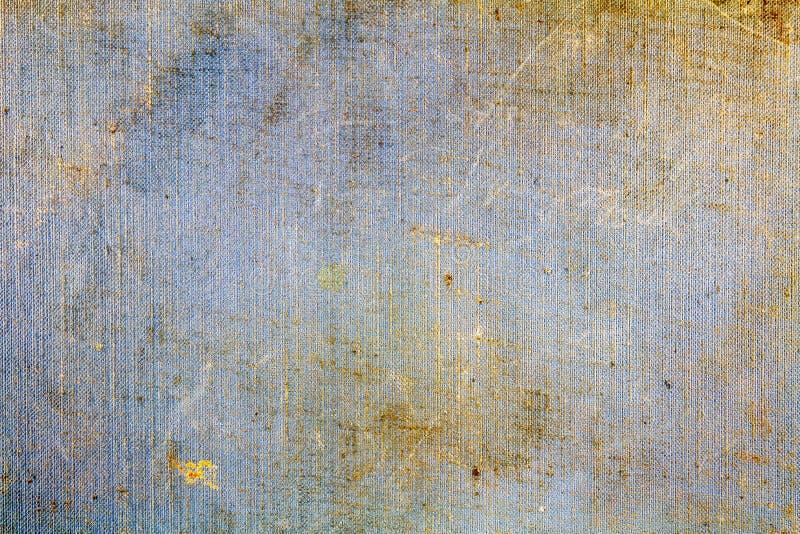 Blå textiltextur för tappning med skrapor och smutsiga fläckar abstrakt bakgrund fotografering för bildbyråer