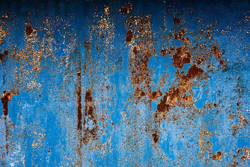 Blå texturerad yttersida med korrosion fotografering för bildbyråer