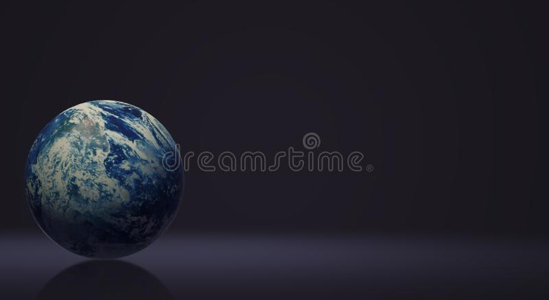 Blå tolkning för planet 3d för jorddag och ecoinnehåll stock illustrationer