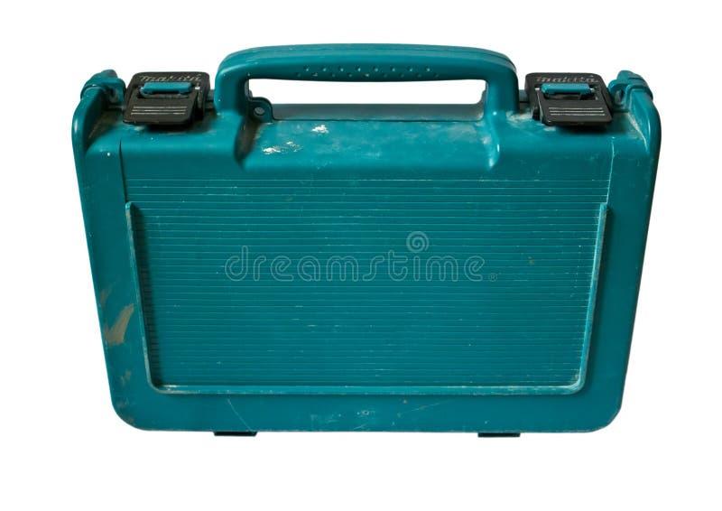 blå toolbox arkivbilder